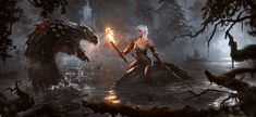 This is a fan art of the Witcher games for ChavisO2's Steam contest. Description from deviantart.com. I searched for this on bing.com/images