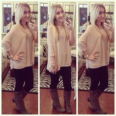 Today's outfit... H top, 7fam leggings, Frye harness boots  #ootd #fashion #comfy #MakeupBYTiffany