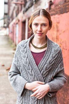 Brooklyn Tweed - Stranger Cardigan CABLED 2-WAY WRAP SWEATER