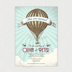 """This week I am featuring Hot Air Balloon Weddings for Etsy Thursday! Let me take you """"Up, Up, & Away"""" with these amazing and lovely Etsy wedding finds! I really enjoyed searching for this week's"""