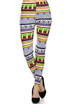 Women's New Sexy Multi Patterned Tribal Fashion Leggings
