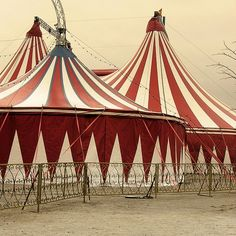 Vintage circus tent photo-red and white stripes. I love circus tent stripes! ZsaZsa Bellagio: Intriguing Beauty