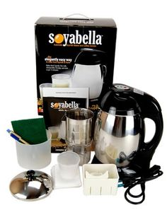 Soyabella Soymilk Maker!!!! Amazing - if it works well this would certainly save money on the expense of soy milk! @wheatgrasskits