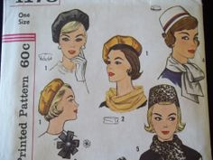 Early 60's Hat Beret Sew Pattern
