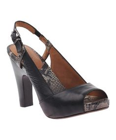 This nicole Black Valley Peep-Toe Leather Slingback by nicole is perfect! #zulilyfinds