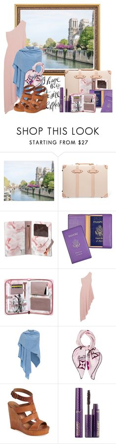 """""""Vacation France"""" by hanisi ❤ liked on Polyvore featuring Globe-Trotter, Ted Baker, Royce Leather, Norma Kamali, Kinross, Louis Vuitton, Lucky Brand and tarte"""