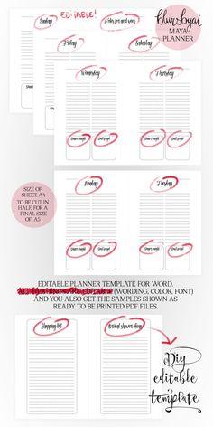 A5 Printable planner. Editable planner template by blursbyaiShop