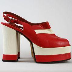 70's Vintage Amazing Italian Glam Rock Platform Shoes (nicolasvintage from Etsy)
