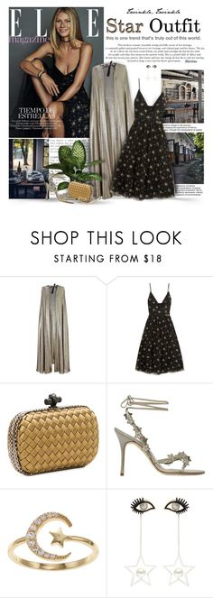 """""""Twinkle, Twinkle: Star Outfit"""" by thewondersoffashion ❤ liked on Polyvore featuring Roland Mouret, Valentino, Bottega Veneta, Manolo Blahnik, LC Lauren Conrad, Venna and Bee Goddess"""