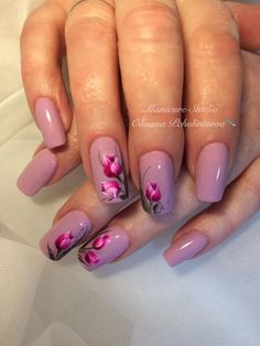 Hey there lovers of nail art! In this post we are going to share with you some Magnificent Nail Art Designs that are going to catch your eye and that you will want to copy for sure. Nail art is gaining more… Read Different Nail Designs, New Nail Designs, Nail Designs Spring, Latest Nail Art, Trendy Nail Art, Nail Art Diy, Tulip Nails, Flower Nails, Classy Nails