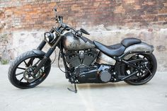 2013 'Route 66' Harley-Davidson FXSB Softail Breakout Full Custom by Nine Hills Motorcycles. Currently being auctioned on eBay for £21,000. http://ebay.co.uk/itm/171975750740?clk_rvr_id=916280352870&rmvSB=true and/or http://facebook.com/media/set/?set=a.1691119107778367.1073741878.1421930961363851&type=3