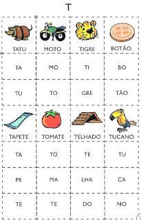 Bingo Silábico - Alfabetização - SÓ ESCOLA
