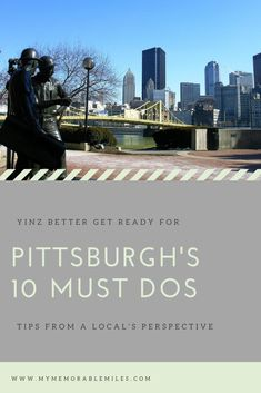 Top 10 things to do in Pittsburgh. As a previous Pittsburgh local, you'll get insider tips on the Steel City's finest. Visit Pittsburgh, Pittsburgh Skyline, Top Travel Destinations, Amazing Destinations, Weekend Trips, Day Trips, Pittsburg Pennsylvania, Vacation Places, Vacations