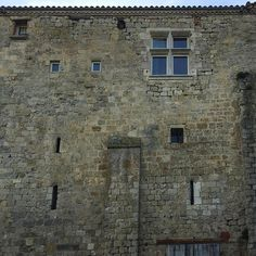 Facade in rural southern France. An old fortified town wall now occupied. impossible to ascertain the nature or quality of the spaces behind. Quite playful I think. Southern France, Fortification, Historical Architecture, Facade, City Photo, Window, Spaces, Wall, Nature