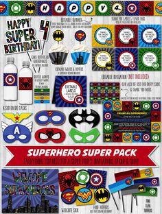 SuperHero Party Decor Pack