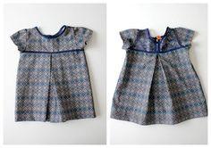 DIY Clothes Refashion: DIY Lace back dress for little girls