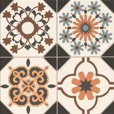 An example of one tile from the Regent range - just check out those colourful patterns and mix of geometrics and floral designs. (http://www.directtilewarehouse.com/regent-victorian-tiles/)