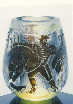 """** Edvin Öhrström (1906-1994), Orrefors, """"Ariel"""" Glass Vase."""