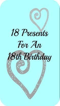 18 Presents For An 18th Birthday Present Ideas Gifts Girls