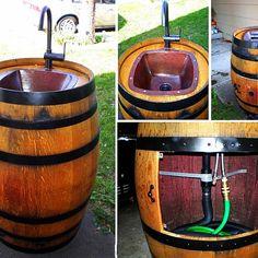 Easy DIY Keg Sink for Your Backyard