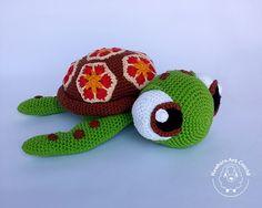 Tartaruga Amigurumi (Procurando Nemo)