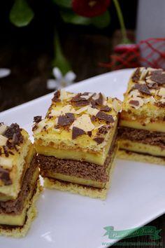 prajitura cu foi si crema de vanilie Romanian Desserts, Romanian Food, Pastry Chef, French Toast, Gluten, Sweets, Cakes, Breakfast, Recipes