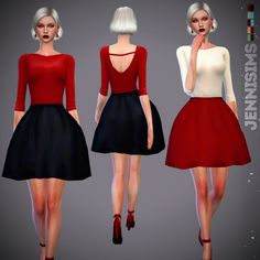 Clothing: Sets Dress Twinkle from Jenni Sims Sims 4 Cas, Sims Cc, Sims 4 Blog, Sims 4 Clothing, Female Clothing, Sims 4 Characters, Sims 4 Update, Sims 4 Custom Content, More Cute