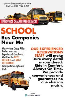 School Bus Companies Near Me | Piktochart Infographic Editor