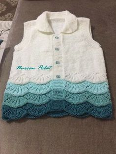 Knitting Models: 2018 Baby Vest Models – ASLI – Join in the world of pin Baby Knitting Patterns, Knitting Stitches, Baby Patterns, Crochet Baby, Knit Crochet, Baby Sweaters, Kids Wear, Baby Dress, Knitwear