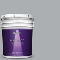 BEHR MARQUEE 5 gal. #N500-3 Tin Foil One-Coat Hide Eggshell Enamel Interior Paint