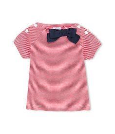 T-shirt bébé fille milleraies à noeud