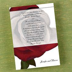 Romantic Rose - Invitation