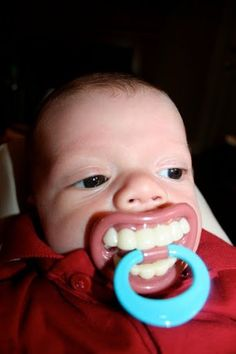 Funny Smiles Baby Pacifier