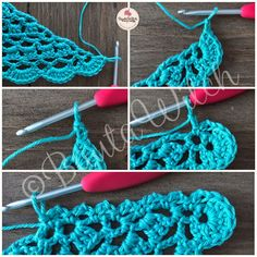 Vårsjal-by-BautaWitch-steg8 Diy And Crafts, Crochet Earrings, Bomull, Dots, Damasks