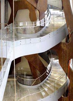 Espacio Fundación Telefónica Stairways, Madrid, Studio, Chair, Remodeling, Museum, Furniture, Home Decor, School