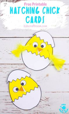 Celebrate Spring with this Hatching Chick Easter Card craft. These baby Easter chicks are adorably cute and easy to make with the free printable pattern. A sweet Easter craft for toddlers and preschoolers. Easter Crafts For Toddlers, Easy Easter Crafts, Paper Crafts For Kids, Crafts For Kids To Make, Toddler Crafts, Preschool Crafts, April Preschool, Preschool Education, Easter Activities