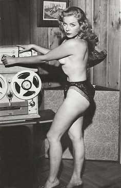 Reel-to-reel pin-up. HERES AN IDEA