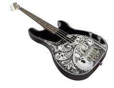 Normandy Alumicaster Bass w/ Laser Engraved Paisly & Skulls (via Reverb)