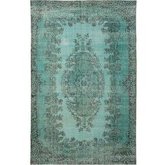 "Vintage Turkish Overdyed Rug - 6' x 9'9"" (1,045 CAD) ❤ liked on Polyvore featuring home, rugs, contemporary handmade rugs, hand-knotted rug, hand knotted area rugs, turkish rugs, hand knotted turkish rugs and hand knotted wool rugs"