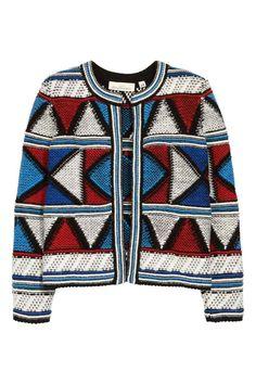 Cardigan jacquard misto lana   H&M
