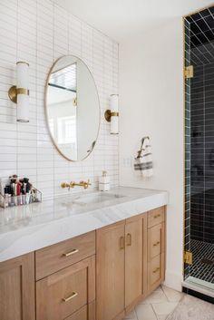 Master Bath Tile, Small Master Bath, Bath Tiles, Master Bath Remodel, Small Bathroom, Master Baths, Bathroom Ideas, Fireclay Tile, Chic Bathrooms