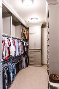 Master Closet Organization Ideas with BeeNeat Organizing Co. Master Closet Organization Ideas with BeeNeat Organizing Co. Closet Redo, Closet Makeover, Master Closet Organization, Master Bedroom Closets Organization, Master Bedroom, Closet Designs, Closet Hacks Organizing, Closet Lighting, Closet Layout