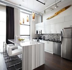 Toy Factory loft kitchen - modern - kitchen - toronto - LUX Design Inc.