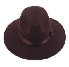 Vintage Wide Brim Ribbon Fedora Hat eb4eb6bc75f4