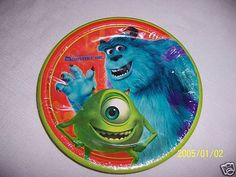 NEW ~MONSTERS,INC~ 16  DESSERT  PLATES  PARTY SUPPLIES