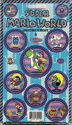 Super Mario World Set of 10 Pogs Card 2 of 4