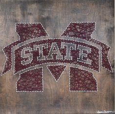Mississippi State. Bull Dogs. String art dinachopra.com