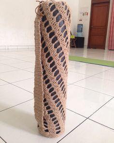 Crochet jute spiral yoga mat bag