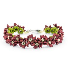 Poinsettia Row Bracelet | Fusion Beads Inspiration Gallery