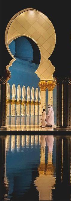 The Sheikh Zayed bin Sultan Al Nahyan Mosque located in Abu Dhabi